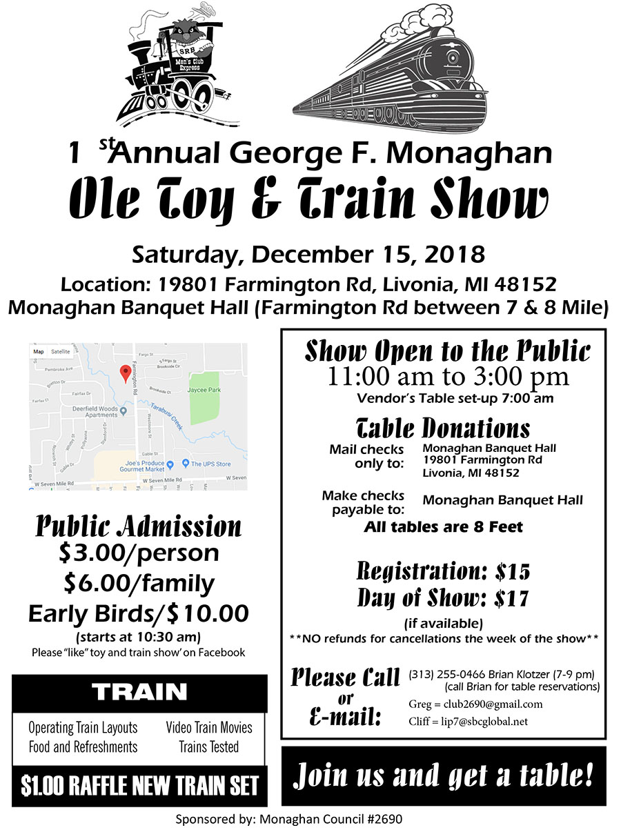 Train Show @ George F. Monaghan Council  | Livonia | Michigan | United States