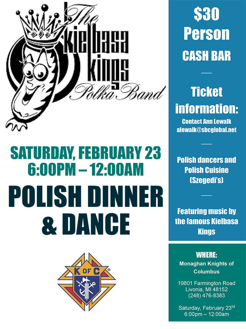 Polish Dinner & Dance @ George F. Monaghan Council